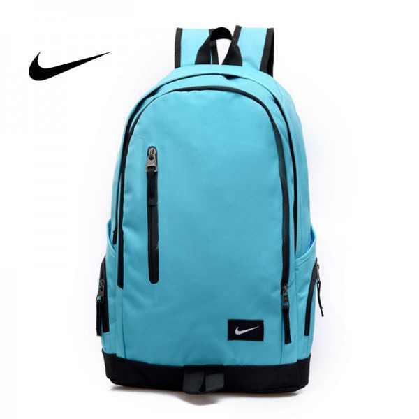 Nike 豎拉鏈款 雙肩包 運動包 旅行包 帆布包 湖藍色 時尚百搭 寬30*厚16*高47