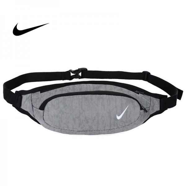 Nike 腰包 騎行包 零錢包 胸包 斜挎包 灰色 時尚百搭 NK-1641