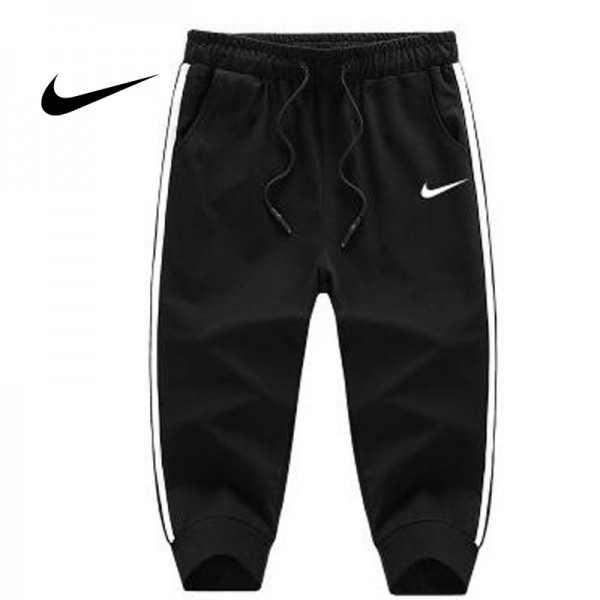 Nike 經典 男款 束口 七分褲 黑白 運動短褲 休閒 百搭