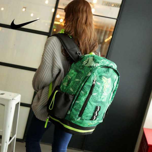 Nike Kobe 籃球包 大容量 雙肩包 旅行包 學生書包 鞋袋包 綠色 49*27*19