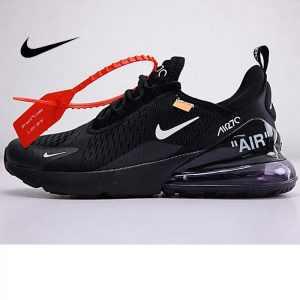 1c7599dbb66ba3f9 300x300 - Off white x Nike Air Max 270系列 後跟半掌氣墊 慢跑鞋 黑白 情侶款 休閒 百搭 AH8050-011