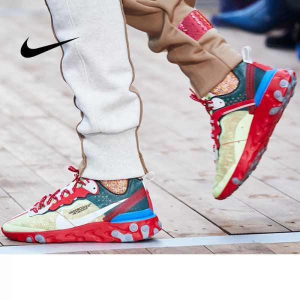 UNDERCOVER x Nike Upcoming React Element 87 半透明 前衛 慢跑鞋 大紅淡 綠白 情侶款 AQ1813-339