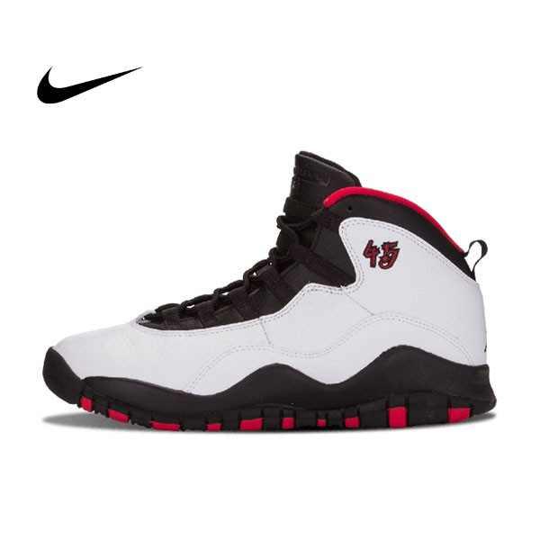 Air Jordan 10 Retro BG Double Nickel 芝加哥 白黑紅 女鞋 310806 102