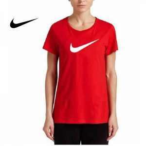21c12d5db6537b8a 300x300 - NIKE 夏季新款 基礎 純棉T恤 女生 紅色 白勾 運動 透氣 時尚百搭