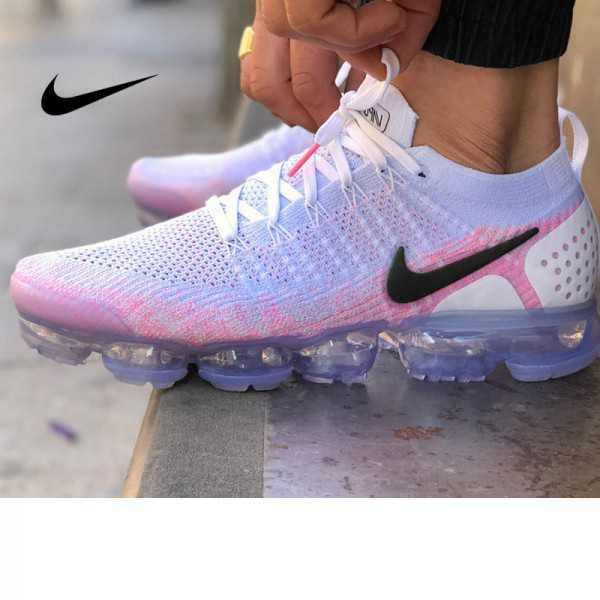 Nike Air VaporMax Flyknit 2.0 W 二代 粉白 冰紫底 女款 飛線慢跑鞋 休閒 百搭 942843-102
