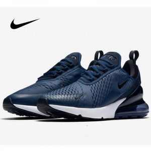 275dcfcee32ff9d9 300x300 - Nike Air Max 270 AH8050-400 男鞋 深藍 後跟半掌氣墊 慢跑鞋 透氣 時尚百搭