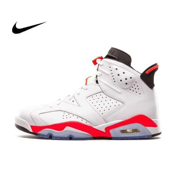Air Jordan 6 Retro Infrared 男女鞋 白黑紅 6代 高筒 籃球鞋 384664 456 - 耐吉官方網-nike 官網