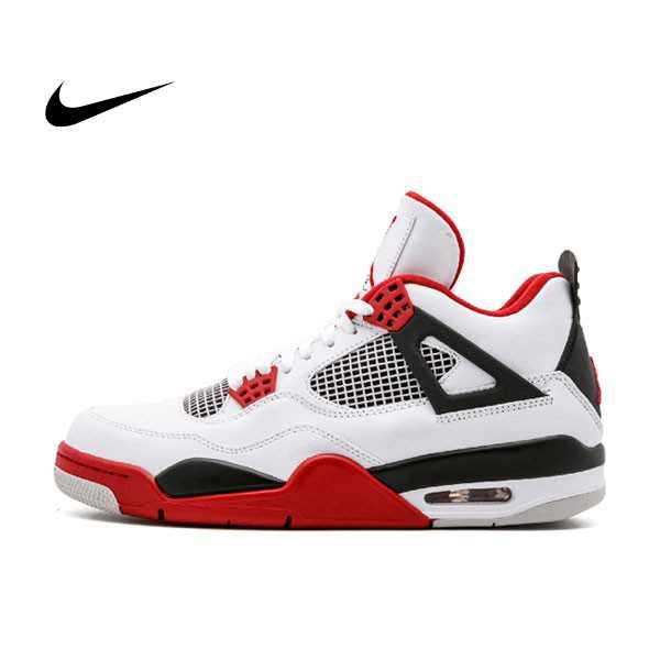 "Air Jordan 4 Retro ""Fire Red""白黑紅 4代 男鞋 308497 110 - 耐吉官方網-nike 官網"