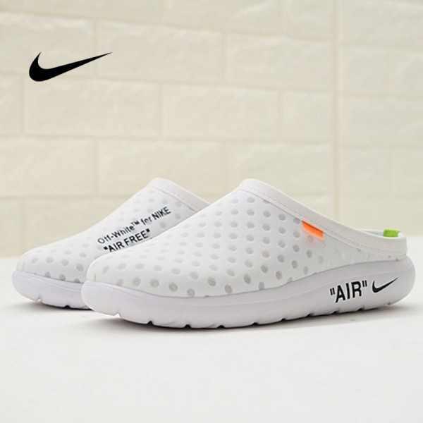 Offwhite x Nike Air rejuvens3代鳥巢 拖鞋 白色 洞洞鞋 男款 441377-002