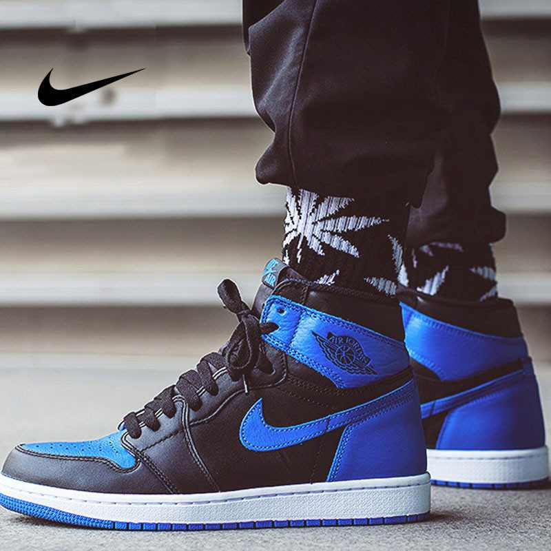 Nike Air Jordan 1 OG Retro AJ1 555088-007 皇家藍 黑藍 男款 經典高筒籃球鞋 時尚百搭