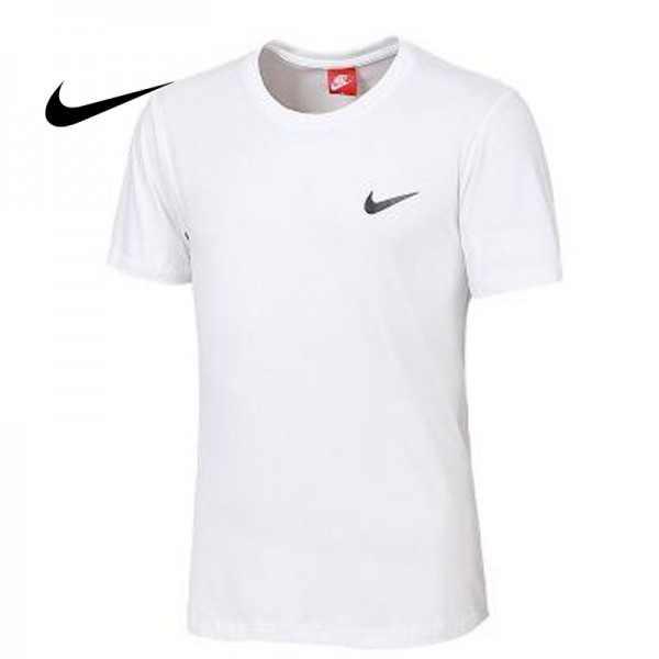 NIKE 夏季新款 基礎 純棉T恤 男款 白色 運動 時尚百搭