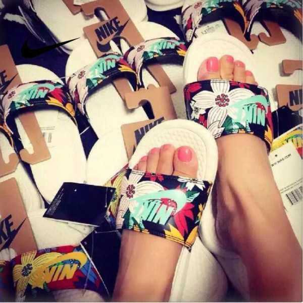 Nike Benassi Print 女神花卉 拖鞋 印花 防水防滑 女款 時尚 百搭