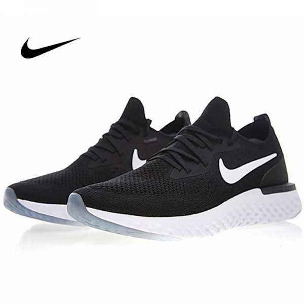 NIKE EPIC REACT FLYKNIT 飛線 網面 透氣 跑步鞋 黑白 男款 AQ0067-001