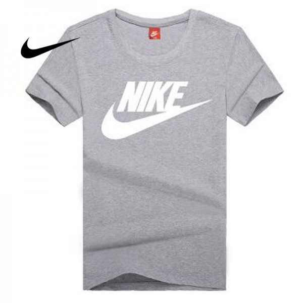 NIKE 情侶款 夏季新款 基礎 純棉T恤 男女款 灰白 經典 百搭