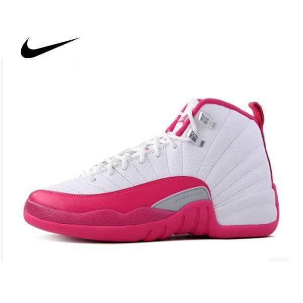 AIR JORDAN 12 RETRO GG AJ12 情人節 白粉紅 籃球鞋 女鞋 510815-109 - 耐吉官方網-nike 官網