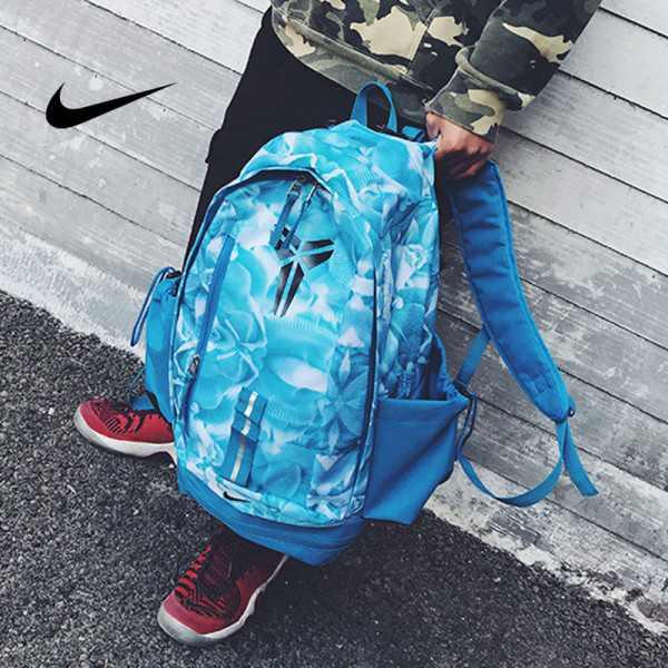 羽毛款科比 Nike Kobe 籃球包 大容量 雙肩包 旅行包 學生書包 鞋袋包 淺藍 49*27*19