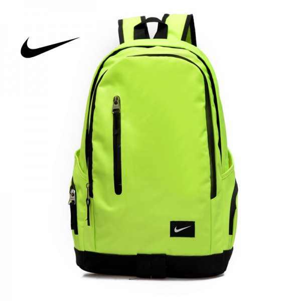 Nike 豎拉鏈款 雙肩包 運動包 旅行包 帆布包 螢光綠 時尚百搭 寬30*厚16*高47