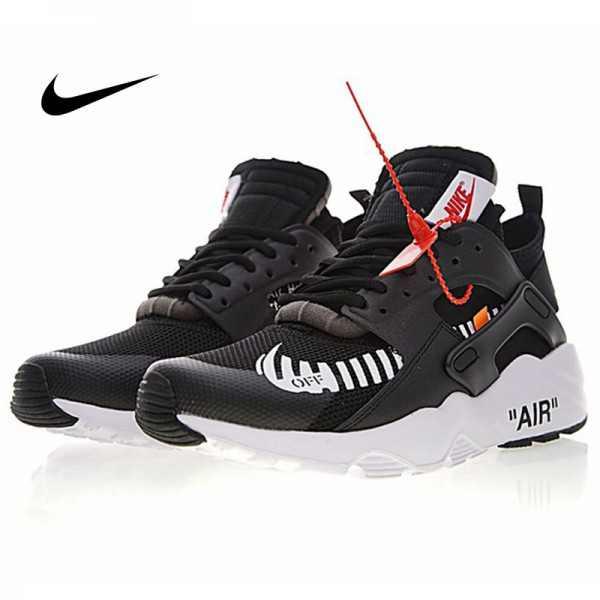 OFF WHITE x Nike Air Huarache Ultra 華萊士 黑武士四代 復古 慢跑鞋 OW黑橘白 男款 AA3841-001