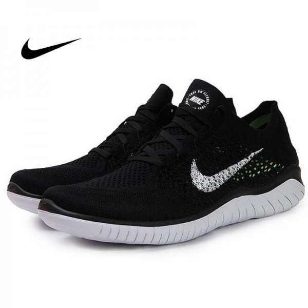 Nike Free Rn Flyknit 赤足5.0全新系列飛織透氣慢跑鞋 黑白 男款 942236-00