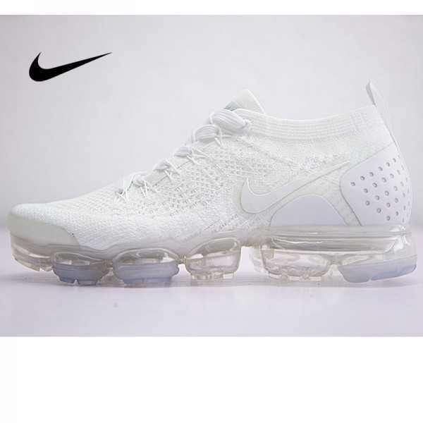 Nike Air VaporMax Flyknit 2.0 W 二代大氣墊慢跑鞋 情侶款 全白色 休閒 百搭 942842-100