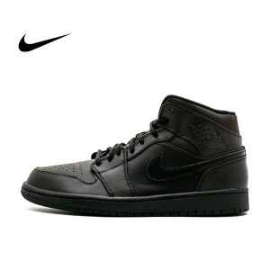 3b16854c0008603c 300x300 - Air Jordan 1 Mid 全黑 男鞋 籃球鞋 高筒 554724 034