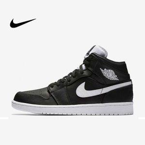 3b3085c5021b9029 1 300x300 - Jordan AJ1 Mid 喬丹初代 情侶款 休閒板鞋 黑白 高筒 時尚百搭 554724-038