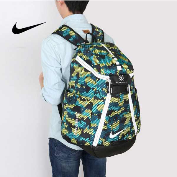 Nike 情侶款 雙肩包 大容量運動包 旅行包 鞋袋包 籃球包 綠色 寬38*高50*厚20