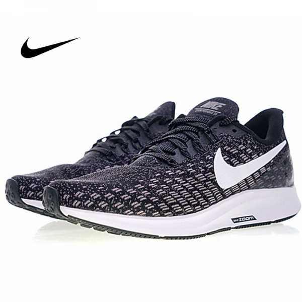 Nike Air Zoom Pegasus 35 登月 男鞋 新款 網面透氣 黑白 時尚百搭942851-001