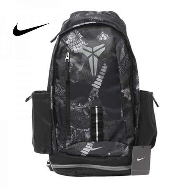Nike Kobe黑曼巴籃球包 大容量 雙肩包 旅行包 學生書包 鞋袋包 黑灰 時尚百搭 49*27*19