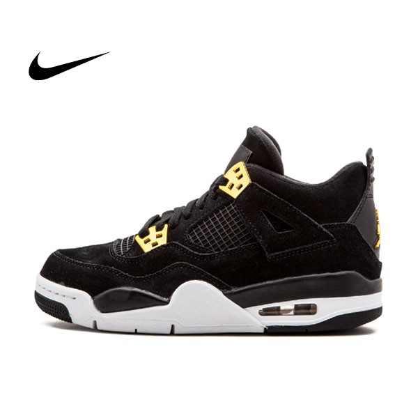 Nike Air Jordan 4 Retro BG 華貴 黑金 運動 籃球鞋 女 408452 032 - 耐吉官方網-nike 官網