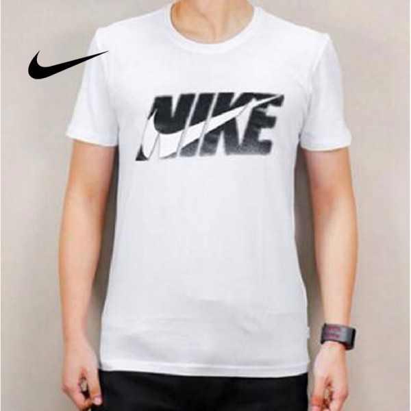 NIKE 夏季新款 基礎 純棉T恤 男款 白色 運動 時尚 透氣 排汗