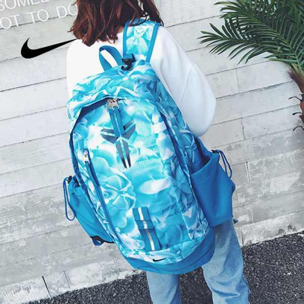 羽毛款科比 Nike Kobe 籃球包 大容量 雙肩包 旅行包 學生書包 鞋袋包 冰藍色 49*27*19