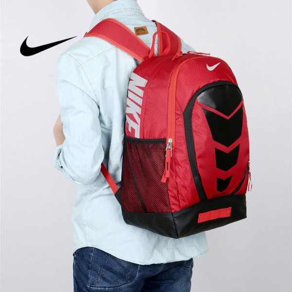 Max Air Nike 雙肩包 學生書包 帆布電腦後背包 旅行包 紅色