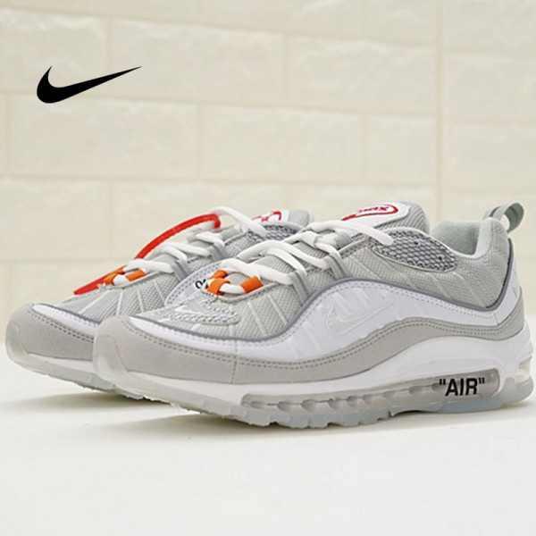Virgil Abloh x Nike Air Max 98 The Ten 復古 百搭 慢跑鞋 淺灰 男款 休閒 百搭 640744-101