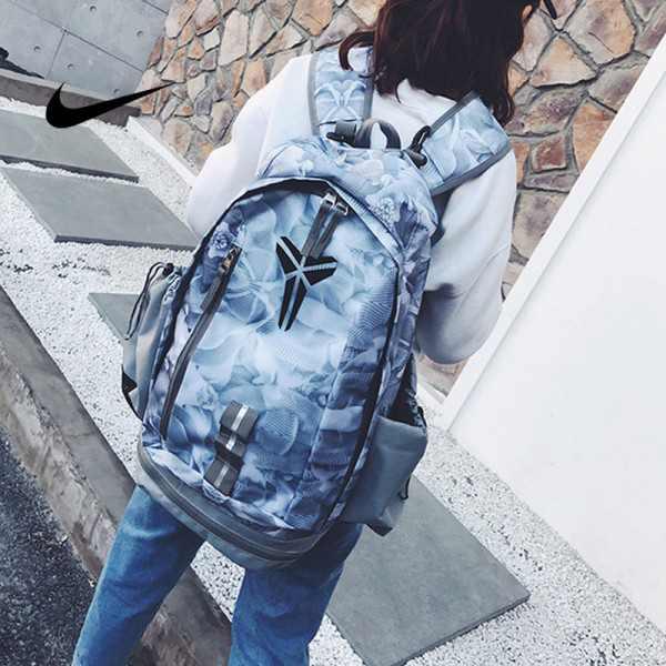 羽毛款科比 Nike Kobe 籃球包 大容量 雙肩包 旅行包 學生書包 鞋袋包 藍色 49*27*19