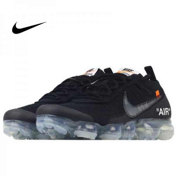 OFF-WHITE x Nike Air VaporMax 2.0 聯名款 全掌氣墊慢跑鞋 黑色 情侶款 休閒 百搭 AA3831-002-100