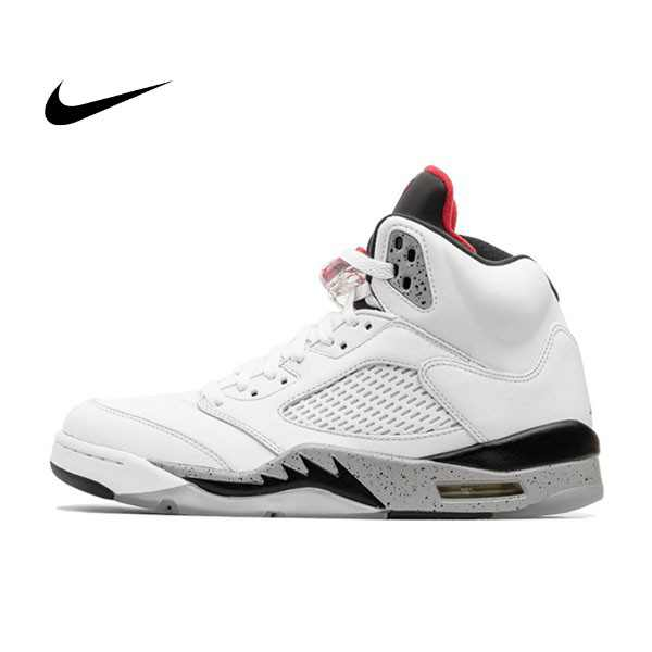 Nike Jordan 5 White Cement 火焰 白水泥 大理石 男鞋 136027-104 - 耐吉官方網-nike 官網