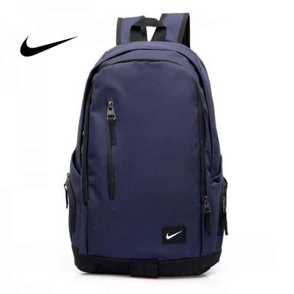 Nike 豎拉鏈款 雙肩包 後背包 運動包 旅行包 帆布包 深藍 時尚百搭 寬30*厚16*高47