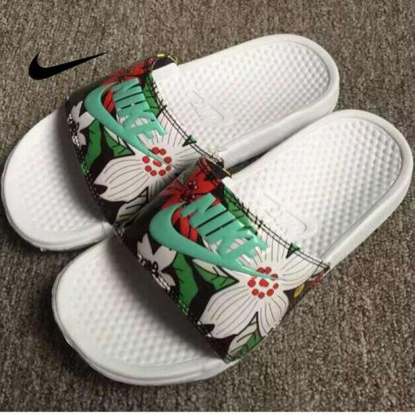Nike Benassi Print 女神花卉 拖鞋 印花 女款 防水 防滑 時尚 百搭