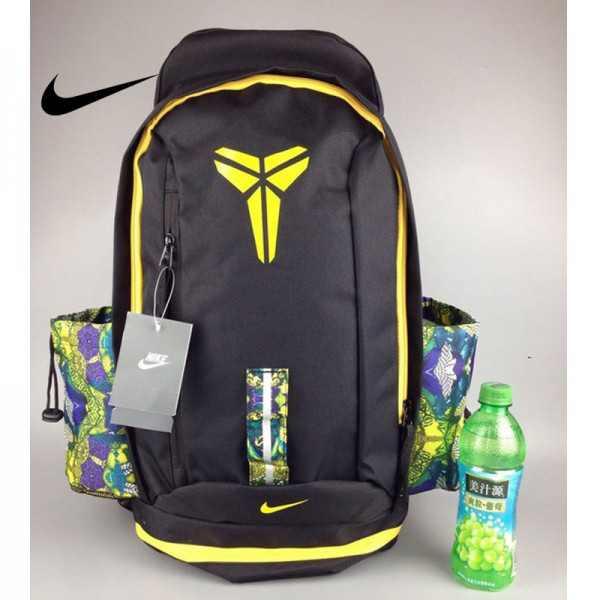 Nike Kobe 籃球包 大容量 雙肩包 旅行包 學生書包 鞋袋包 黑黃 防水 49*27*19