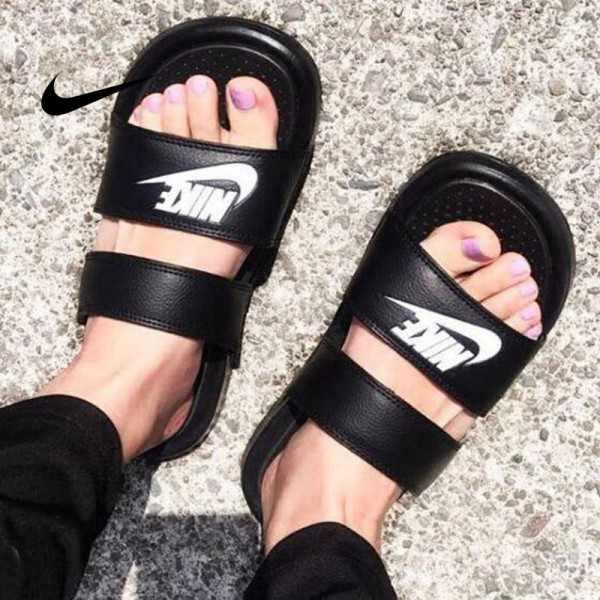 Nike Benassi Duo Ultra Slide雙帶潮流拖鞋 黑白 情侶款 沙灘拖鞋 防滑 819717-010