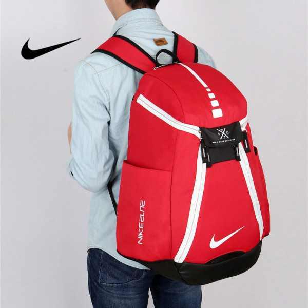 Nike 情侶款 雙肩包 大容量運動包 旅行包 鞋袋包 籃球包 紅白 寬38*高50*厚20