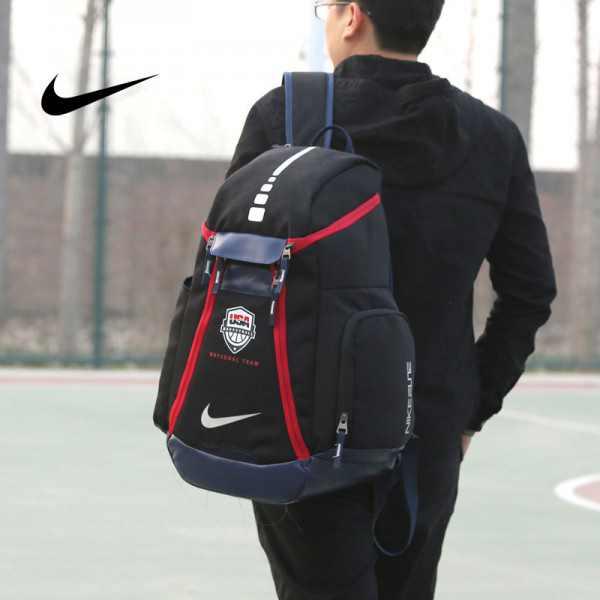 Nike 球星款 KD大號 帆布 雙肩包 黑色 後背包 時尚 百搭 情侶款 高54*下寬30*厚23