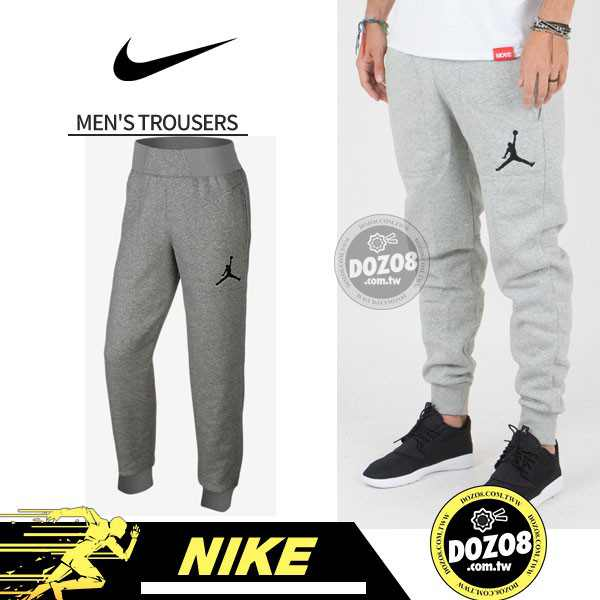 Nike JORDAN VARSITY 男子 冬季 加絨 運動長褲 灰色 時尚百搭 696205-063