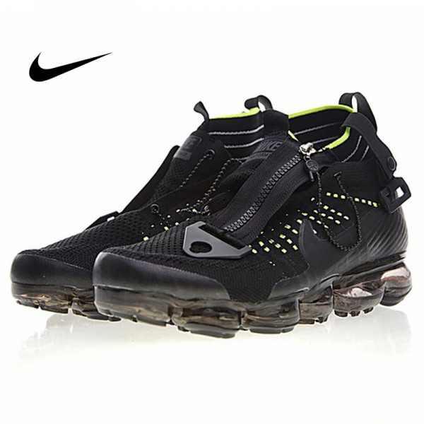 Nike Air VaporMax 機能 拉鏈 中筒 氣墊慢跑鞋 黑綠 男款 休閒 百搭 899473-003