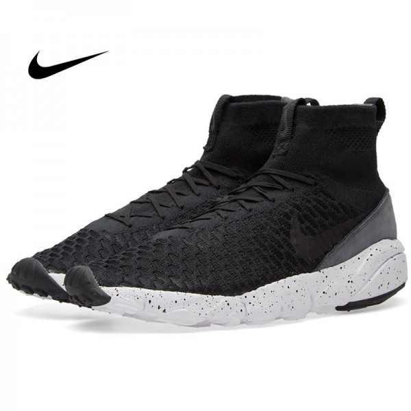 Nike Air Footscape Magista Flyknit 小呂布 黑白 編織慢跑鞋 男款 休閒 時尚 816560-003