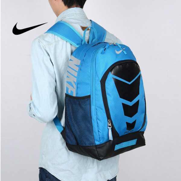 Max Air Nike 雙肩包 學生書包 帆布電腦後背包 旅行包 藍色