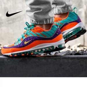 5ba2b907c9e0ca89 300x300 - Nike Air Max 98 復古 氣墊 慢跑鞋 橙紫 湖水藍 情侶款 924462-800 1