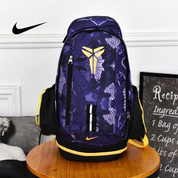 Nike Kobe 籃球包 大容量 雙肩包 旅行包 學生書包 鞋袋包 紫色 49*27*19