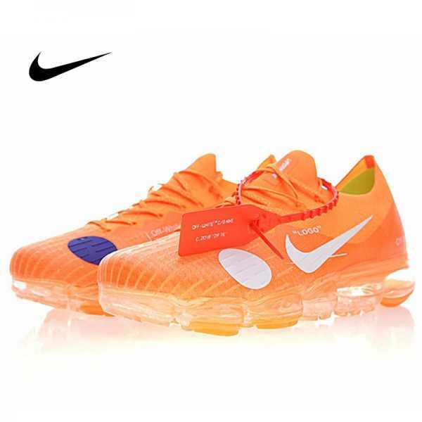 Off white x Nike Air VaporMax 蒸汽 大氣墊 慢跑鞋 橙白 情侶款 時尚百搭 849558-810